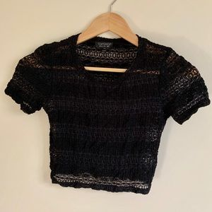 Top Shop - Lace Crop Top - Small
